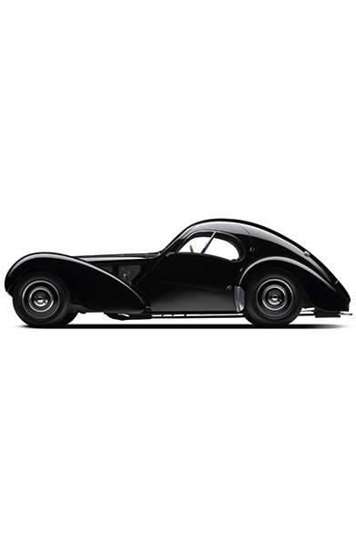 これがラルフ・ローレン氏が所有しているという1938年型ブカッティ タイプ57 SC アトランティック・クーペ。