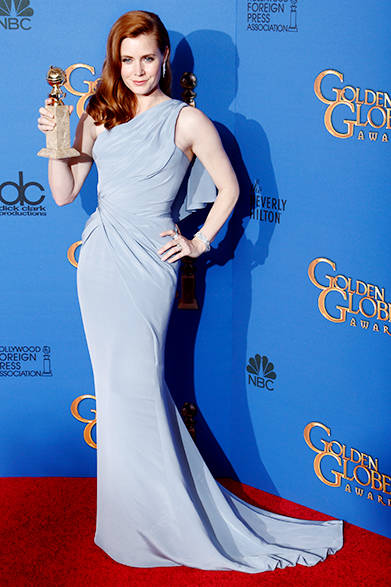 <strong>Amy Adams|エイミー・アダムス</strong><br><br>見事、コメディ/ミュージカル部門主演女優賞を獲得したエイミー・アダムス <br><br>Jeff Vespa/WireImage