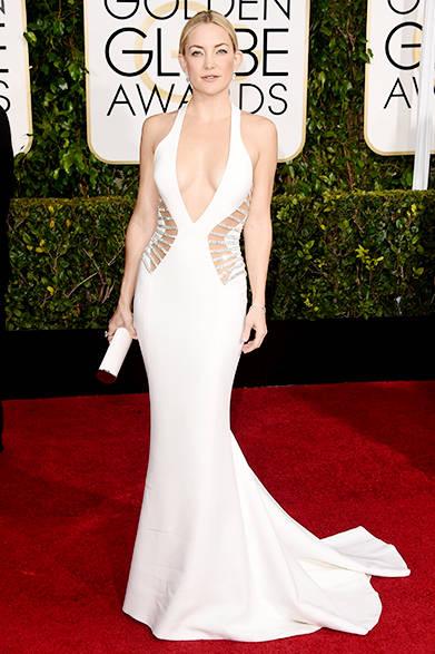 <strong> Kate Hudson|ケイト・ハドソン</strong><br><br>エレガントなマーメイドラインを描くドレスはアトリエ ヴェルサーチ。<br>
