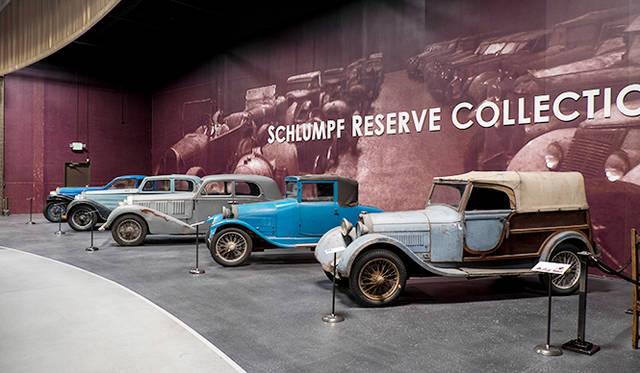 ブガッティの収集で知られる仏のシュルンプ・コレクションから購入した「リザーブ」とよばれる修復前のモデルの数かずも見もの