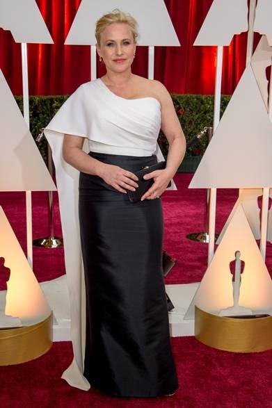 <strong>Patricia Arquette パトリシア・アークエット</strong></br></br>  映画『6才のボクが、大人になるまで。』で助演女優賞に選ばれたパトリシア・アークエット。</br></br>  ドレス:ロゼッタ・ゲッティー</br>