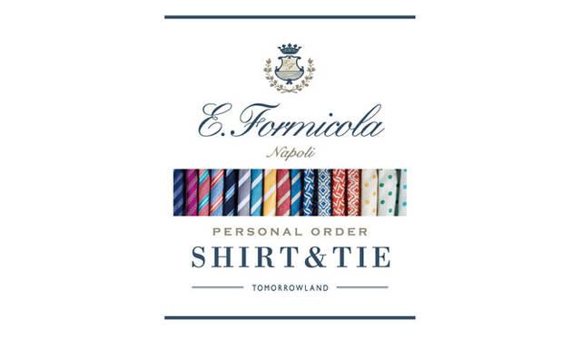 <strong>TOMORROWLAND|トゥモローランド</strong><br />「Errico Formicola」タイ&シャツパーソナルオーダー会