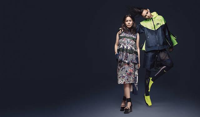 <strong>NikeLab|ナイキラボ</strong><br />「NikeLab × sacai コレクション」<br />左/sacaiデザイナー阿部千登勢氏