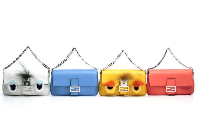 <strong>Petit & Colorful Bag</strong><br><br> <strong>FENDI|フェンディ</strong><br><br>  ランウェイに登場し、話題をさらったフェンディのマイクロバッグ。フェンディのアイコンバッグ、バゲットが手のひらサイズに。そのままでも、チェーンを大きなバッグに取り付けて、2個持ちしても楽しい。贅沢なミンクでユーモラスな表情のBAG BUGSもお目見え。 <br><br>「マイクロ バケット」[H8.5×W13.5×D2.2㎝]各12万2640円、「マイクロ バゲット」BAG BUGS[H8.5×W13.5×D2.2㎝]各17万3880円<br>フェンディ/フェンディ ジャパン Tel. 03-3514-6187