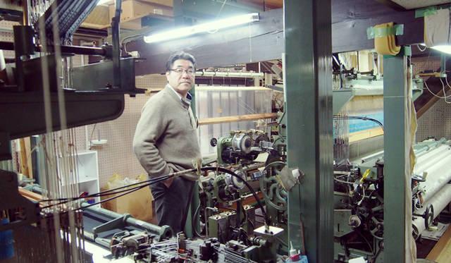 「細尾」が誇る職人、金谷さん。あたらしいプロジェクトの中枢を担っている