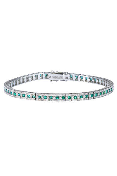 ブレスレッド<br> ダイヤモンド×エメラルド<br> 価格 139万8600円