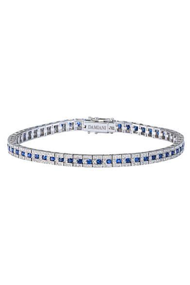 ブレスレッド<br> ダイヤモンド×サファイヤ<br> 価格 119万8800円
