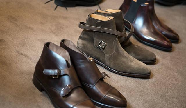 手前から、モデル「William II Boot(ウィリアム2ブーツ)」、「Jodhpur II(ジョッパー2)」、モデル「Tudor(チューダー)」