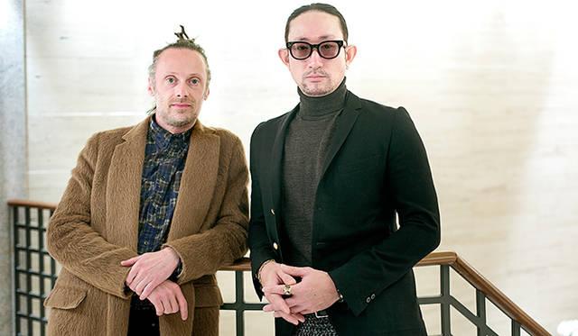 雑誌『ロフィシャル』ディレクターのジャンルカ・カンターロ氏(写真左)と、「パッチー ケークイーター」デザイナーの森野重紀氏
