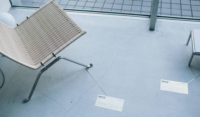 <strong>LIVING MOTIF|リビング・モティーフ</strong><br />1階ポール・ケアホルム「dialogue with materials-素材との対話-」コーナー