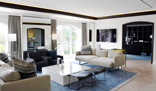 """<br> <a href=""""/article/952382/2#intercontinental """"  class=""""link_underline"""">Intercontinental Hotel Sydney Double Bay</a>のスイートはダイニング、リビングを備える"""
