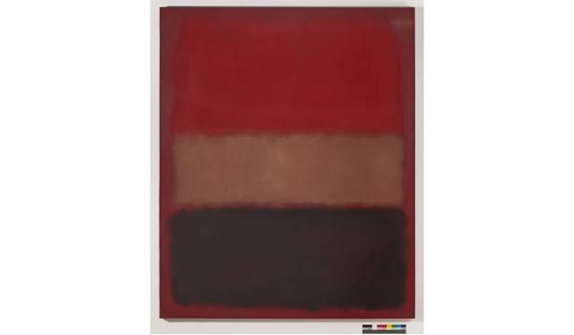 Mark Rothko No. 46 [Black, Ochre, Red Over Red], 1957  Huile sur toile 99 1/2 x 81 1/2 x 1 3/4 in. (252.73 x 207.01 x 4.45 cm)  The Museum ofContemporary Art, Los Angeles The Panza Collection © 1998 Kate Rothko Prizel & Christopher Rothko - ADAGP, Paris, 2015  - Photo The Museum of Contemporary Art, Los Angeles