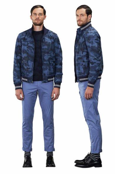 <strong>MARINA YACHTING|マリーナ ヨッティング</strong><br />2015春夏コレクション ジャケット6万5880円、セーター2万8080円、パンツ参考商品