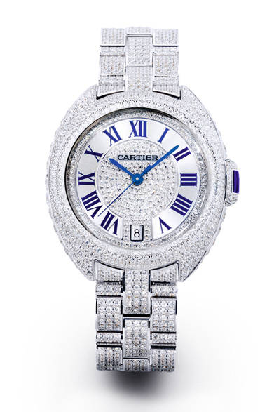 <strong>クレ ドゥ カルティエ 35 mm<br>WG×ダイヤモンド ブレスレット</strong><br>1782万円<br><br>Eric Maillet © Cartier