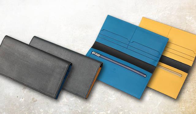 「SPERIO FIN CALF Limited color」 新登場のコンビネーションレザーモデルは、ブラック×ブルー、ネイビー×イエローの2色展開。