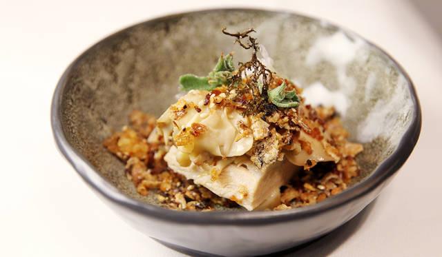 <br />ピーター・ギルモア氏の「豚アゴ肉のスモーク&コンフィ」は感動のひと皿