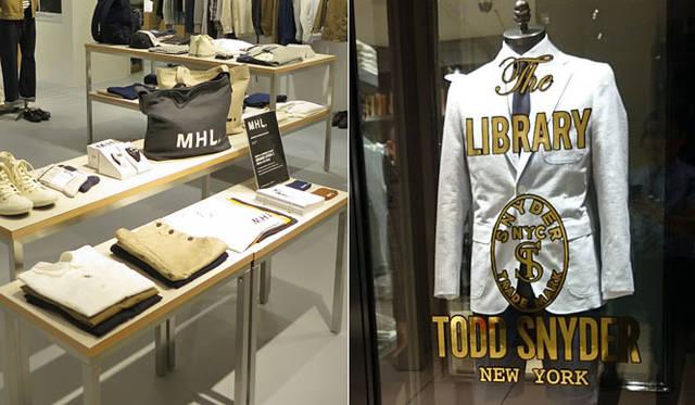 <strong>ANGLOBAL|アングローバル</strong><br />写真左/大阪「E-ma」1階「MHL. イーマ大阪」 写真右/1階「トッド スナイダー ライブラリー」