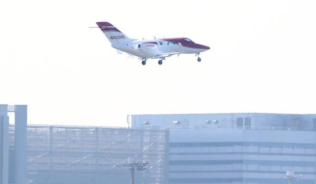 羽田に到着するホンダジェット