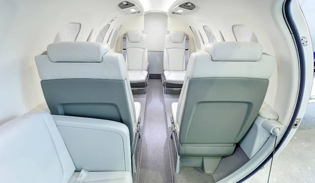 客室スペースは大型機を意識して設計された