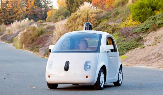グーグルが開発を進める自動運転カーのプロトタイプモデル