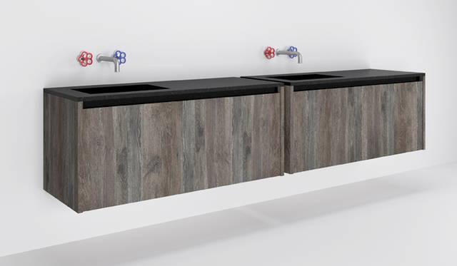 バスルームユニット「Xila」by Luigi Massoni