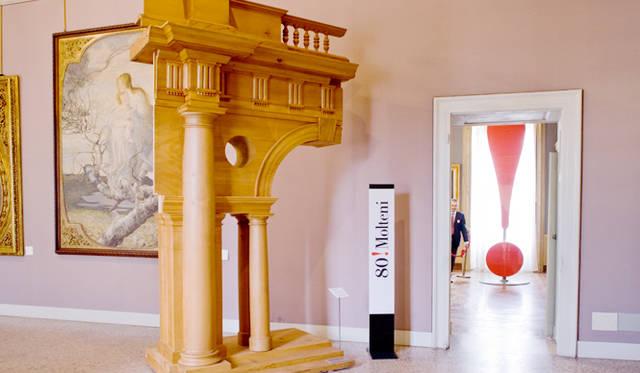 内観|ミラノ市近代美術館 モルテーニ展入り口<br> 木製装飾|FENICE by Aldo Rossi / 1997<br>