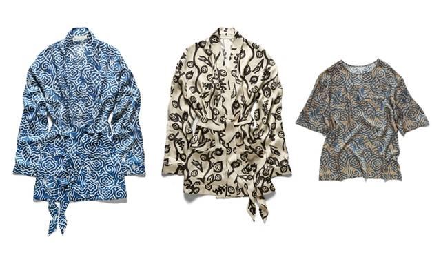 (左より)Pajama 9万720円、Pajama 9万720円、Pajama tops 5万」2920円