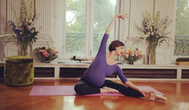 妊娠中にマタニティ向けDVDを制作<br />courtesy of Mary Helen Bowers, Founder of Ballet Beautiful