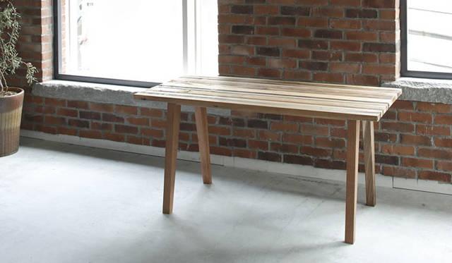 <strong>journal standard Furniture|ジャーナル スタンダード ファニチャー</strong><br />KARPENTER「BROOKLYN」コレクション BROOKLYN Dining Table(W1500×D700×H730mm)12万9600円