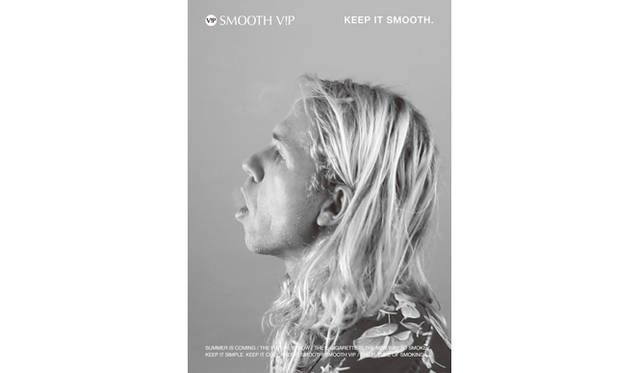 LVDIの手がけたSMOOTH V!Pの広告ビジュアル<br/> Photograph by Gianluca Wright