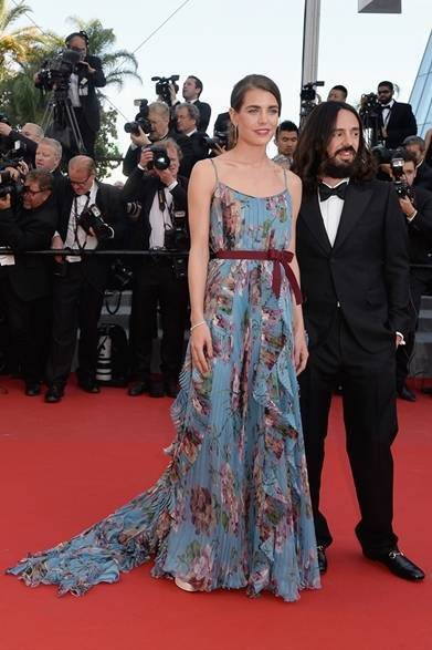 On Charlotte Casiraghi <br /> ドレス:グッチ<br />  『若者のすべて(Rocco E I Suoi Fratelli)』のプレミアにて<br /> Courtesy of Getty Images