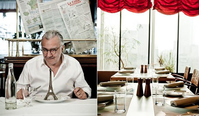 <strong>青山「ブノワ」</strong><br />開店10周年特別企画「J'aime la France(ジェーム・ラ・フランス)」開催 左/シェフ アラン・デュカス