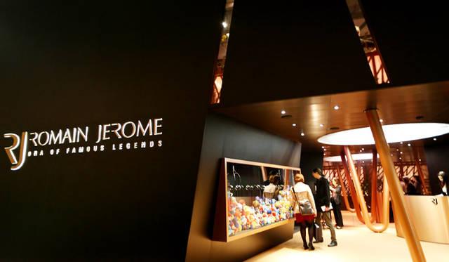<br> バーゼルワールドのメイン会場の2階にある「ロマン・ジェローム」のブース