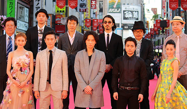『新宿スワン』ジャパンプレミア レッドカーペットの模様