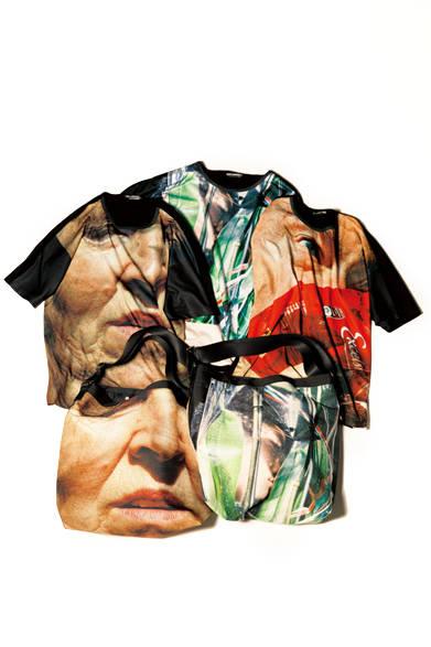ジャパンフォトアワード2014でステラ・スッチ賞を受賞した藤原聡志氏。彼の「Code Unknown」と名づけられた作品から3作品を、Tシャツやバッグなどにプリント。アーティスティックな美しさと秘められたメッセージ性が単調な着こなしを一変する。 <br><br>  上:Tシャツ各2万1600円、下:バッグ[W46×H45cm]各1万7280円 ※いずれも7月上旬入荷予定/イッセイ ミヤケ メン<阪急メンズ大阪3階><阪急メンズ東京3階>