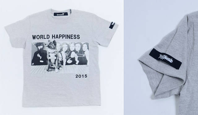 <strong>Ground Y|グラウンド ワイ</strong><br />Ground Y × WORLD HAPPINESS コラボレーションTシャツ