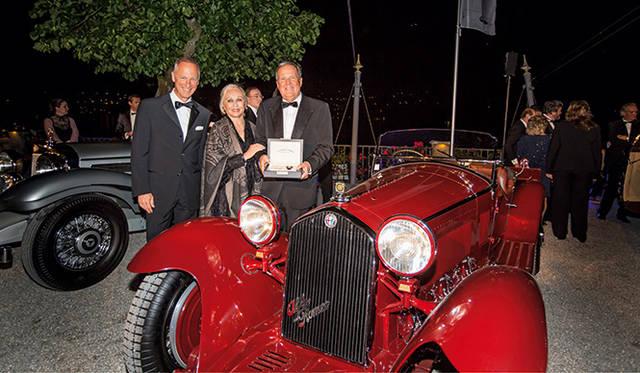 最優秀賞(Best of Show)を獲得した1932年製アルファロメオ8C2300スパイダー・ザガート