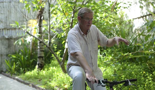 各部屋に自転車を設置することを決めたのも、グラハム・クライさん。2011年のことだ
