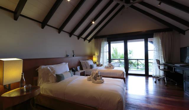 直径750キロという巨大な島に設けられた部屋数はわずか89室。全室184平米以上のスイートルーム仕様だ