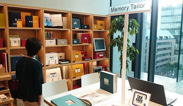 銀座・伊東屋 新本店ビル6F:思い出(写真)を楽しむためのMemory Tailorスペースを設けた