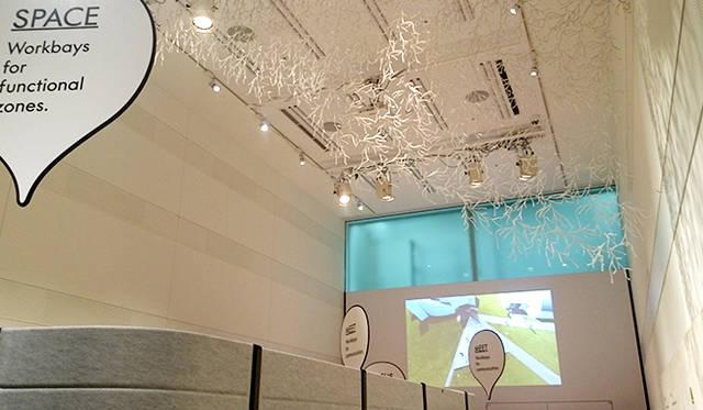 銀座・伊東屋 新本店ビルB1F:天井高約6mの多目的ホール「Inspiration Hall」。あたらしいコトやモノに触れることができ、インスピレーションを刺激するイベントが開催される予定だという