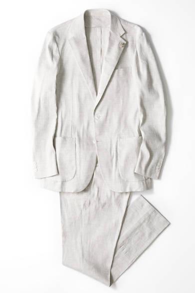 3Bジャケット5万4000円、スリムパンツ2万3760円