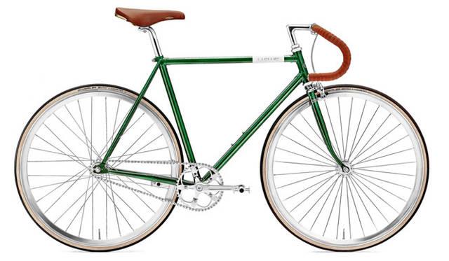 <strong>Creme Cycles|クレム・サイクルズ</strong><br />CREME CYCLES 2015<br />美しいロストワックスクラウン仕上げのフルクロモリ製ラグドフレームとクロモリ製ラグドフォークが特徴のヴィナル・ドッピオ。最適な強度バランスの比率を実現するために、フレームはクロモリチューブを採用。Selle(セレ)社製San Marco Rolls(サン マルコ ロールス)のレザーサドル、ひときわ印象的なハンドポリッシュ仕上げのリム、シールドベアリング装備のNovatec(ノバテック)社製のハブ、ファンタスティックな高級冷間鍛造仕上げのレトロスタイルのクランクなど優れたパーツを採用している。「VINYL DOPPIO」(dark green)15万4440円