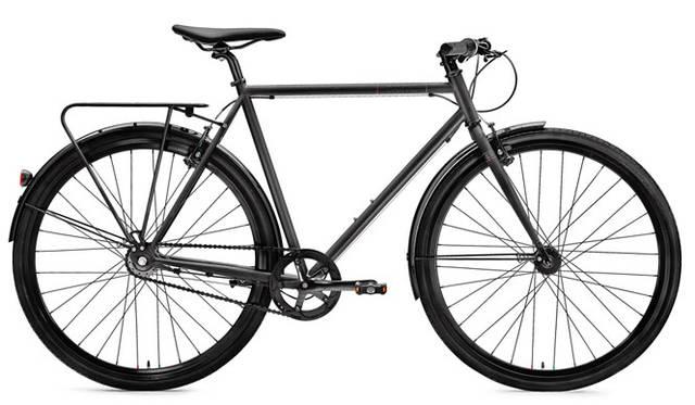 <strong>Creme Cycles|クレム・サイクルズ</strong><br />CREME CYCLES 2015<br />Hi-Ten(ハイテンション)スチールフレームを特徴とするテンポ・ソロは、Sram(スラム)社製の3速内装ハブとVブレーキを装備。「TEMPO SOLO」(black)12万4200円