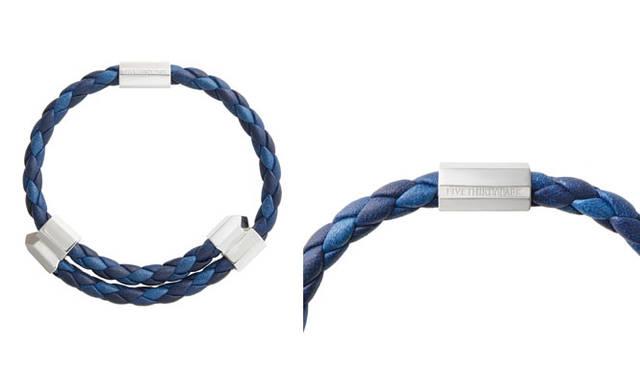 "<strong>530PARK|530パーク</strong><br />""INDIGO IS THE NEW BLACK"" ポップアップギャラリー 「FIVETHIRTY PARK × SUKUMO LEATHER PRODUCTS」ファイブサーティーパーク クリスタルレザースライド(藍)ブレスレット3万1320円"