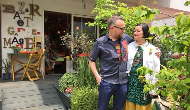 <strong>Bazar et Garde-Manger バザー・エ・ガルド-モンジェ</strong><br />左/マルト・デムランの夫で仕事のパートナーのフランク・ドラ(Franck DORAT)、右/バイヤー、コンセプターのマルト・デムラン(Marthe Desmoulins)