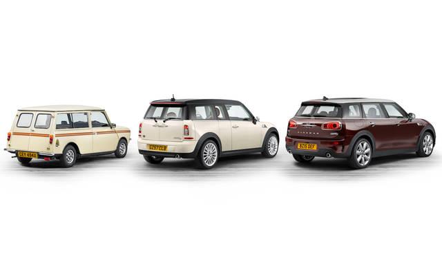 歴代クラブマン。左から、ミニ クラブマン エステート(1980)、MINI クーパーD クラブマン(2007)、そして今回のMINI クーパーS クラブマン