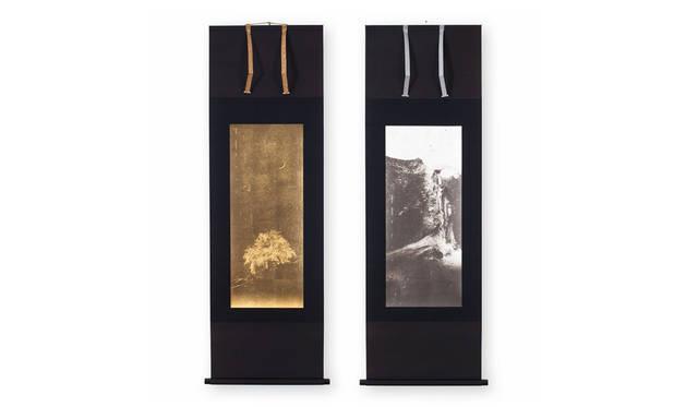 川上シュン(写真左から)『夜桜』『滝』
