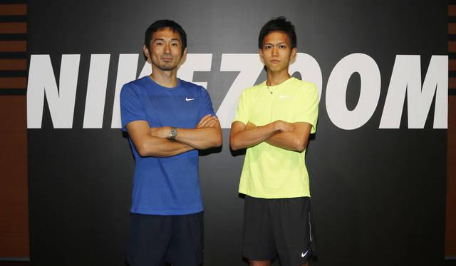 <strong>NIKE|ナイキ</strong><br />6月29日におこなわれた「ナイキ ズーム エア コレクション」発表会。左/為末大氏、右/陸上3,000mの日本記録保持者、大迫傑選手
