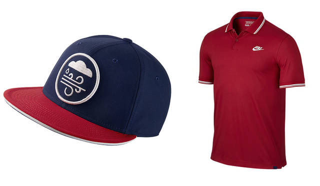 左/ナイキ ゴルフ トゥルーキャップ(アジャスタブル)4104円、右/ナイキ ティップド ノベルティポロ(メンズゴルフポロシャツ)8640円